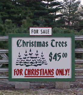 for Christians only