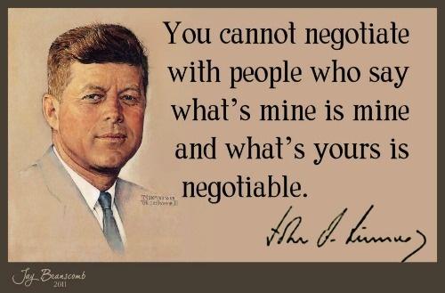 JFK negotiable