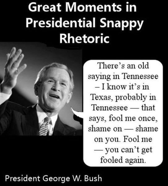 Funny George Bush Quotes: Dauson Stimpson-Gagnon