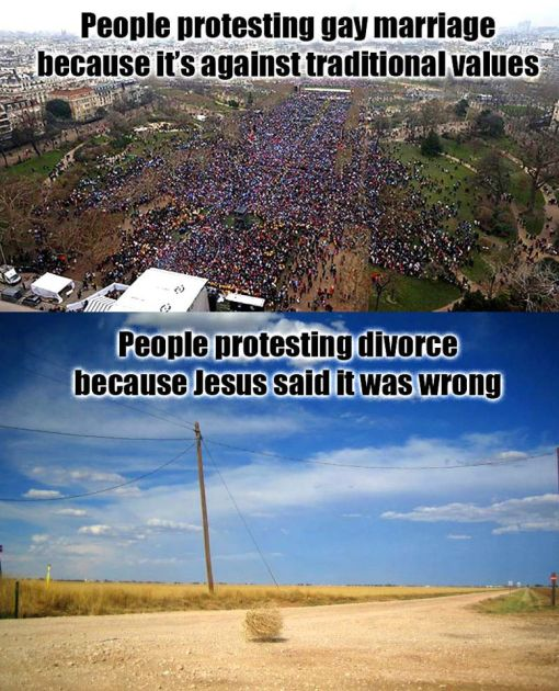 protesting divorce